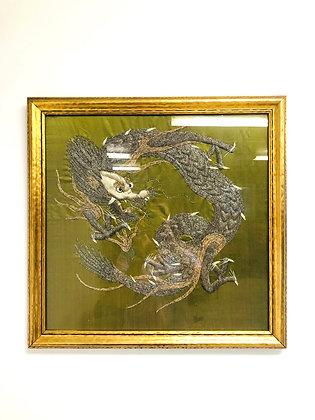 Silk Embroidered Wall Hanging Dragon