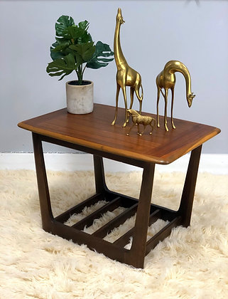 Mid-Century Modern Walnut End Table