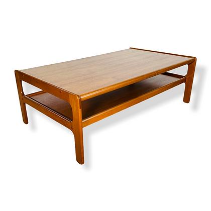 Danish Modern Teak Two Tier Coffee Table By Kristensen Thomassen for Moreddi