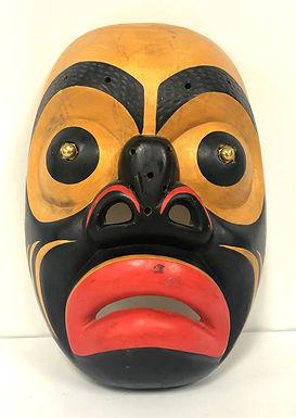 Vintage Northwest Native American/Canadian Mask Signed Jesse Davis