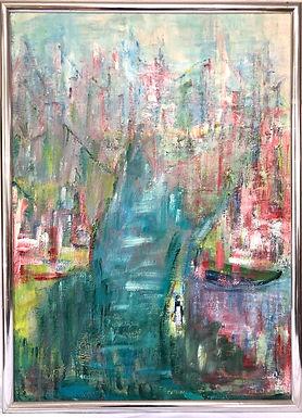 Fannie Hochstein Abstract Oil on Canvas