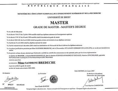 Diplôme Master 2 Psychologue