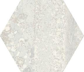 RUST WHITE NATURAL HEXAGON