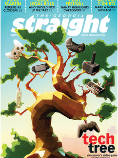 """3D Cover Illustration for The Georgia Straight Magazine - """" Tech Tree """""""