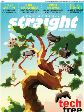 "3D Cover Illustration for The Georgia Straight Magazine - "" Tech Tree """