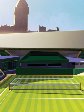"""Environemnt Look and feel Exploration and VTAR """" Tennis Grand Slam """""""