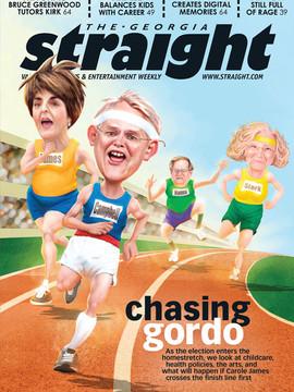"2D Cover Illustration for The Georgia Straight Magazine - "" Chasing gordo """