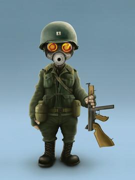 """Character Concept Art - """" Ubuntu Soldier """""""