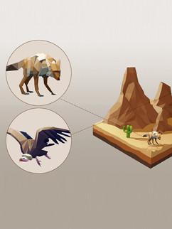 "Holographic mini environments Concept Art - "" Holo Hub """