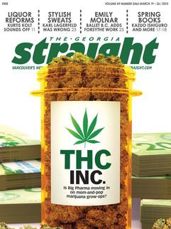 "3D Cover Illustration for The Georgia Straight Magazine - "" THC INC. """