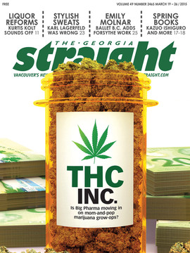 "3D Cover Illustration for The Georgia Straight Magazine - "" THC INC. """