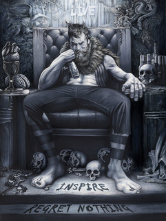 "Traditional Illustration - "" The Werewolf """