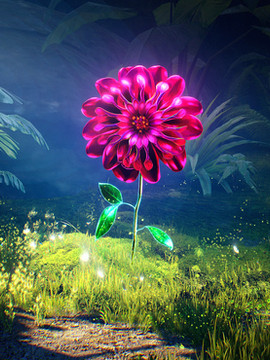 "Flower Concept Art - "" DreamCraft promo video """