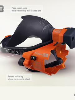 Two Piece Hygienic Headset Branding Design