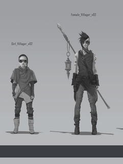 Dragon Secondary Characters Concept (Villagers)