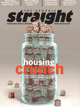 """3D  Cover  Illustration for The Georgia Straight Magazine - """" Housing Crunch """""""