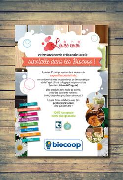 Affiche Louise Emoi - Biocoop