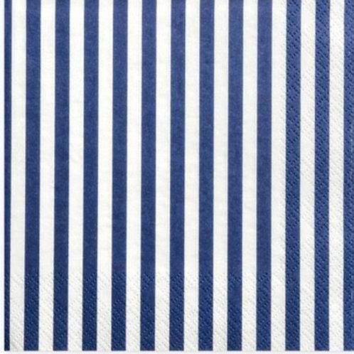 Athelhampton gift shop dorset ambiente paper napkins stripes navy blue
