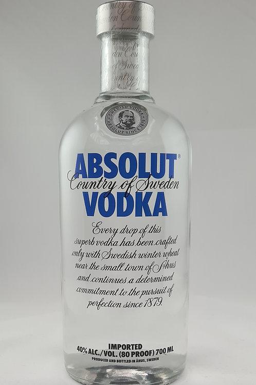 Athelhampton gift shop wine cellar glass bottle absolut vodka 70cl