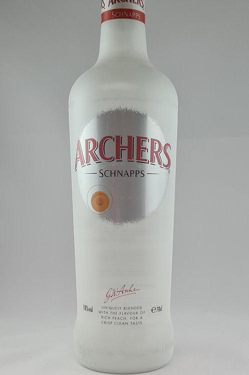 Athelhampton gift shop wine cellar glass bottle archers peach schnapps 70cl