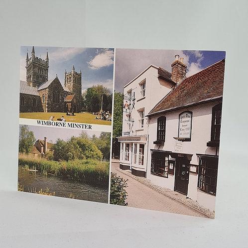 Athelhampton gift shop dorset postcard vintage Wimborne minister 1998