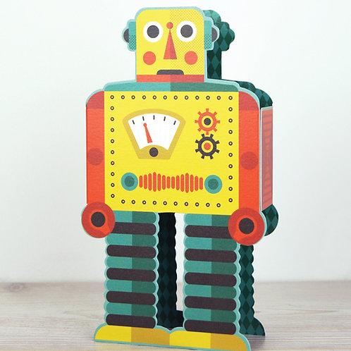 Athelhampton gift shop dorset greetings card and envelope pop up 3D robot