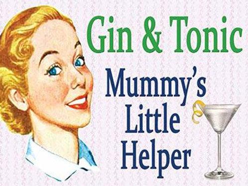 Athelhampton gift shop dorset fridge magnets humour gin and tonic mummy little helper