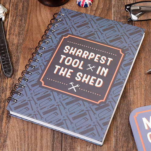 Athelhampton gift shop dorset cute notebook gardening themed sharpest tool in the shed