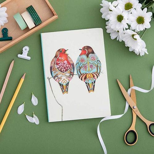 Athelhampton gift shop dorset cute notebook cute animals two robins
