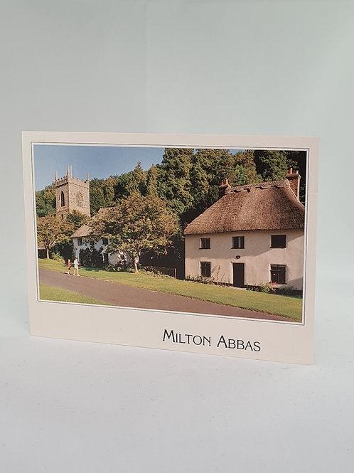 Athelhampton gift shop dorset postcard vintage Milton Abbas 1992