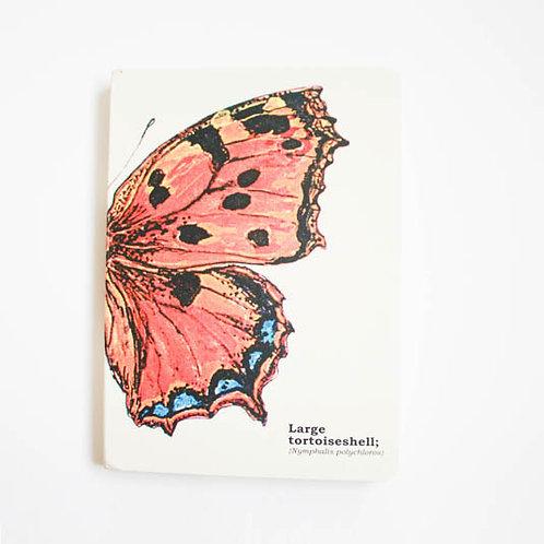 Athelhampton gift shop dorset cute notebook large tortoiseshell butterfly