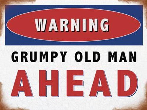 Athelhampton gift shop dorset fridge magnets humour warning grumpy old man ahead