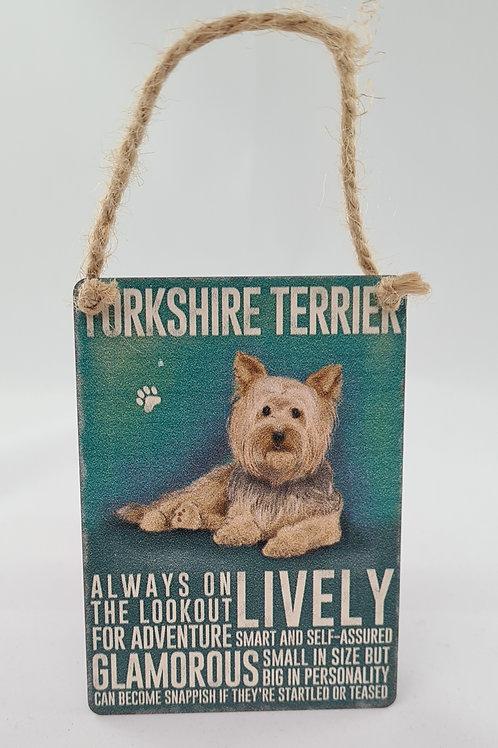 Yorkshire Terrier, Metal Dangler
