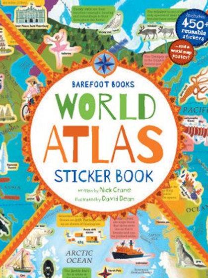Athelhampton gift shop dorset world atlas sticker book children
