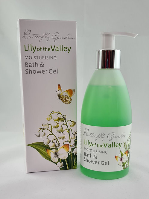 Athelhampton gift shop white rose aromatics butterfly garden lily of the valley moisturising bath and shower gel