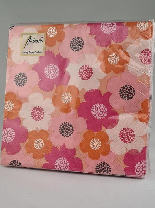 Athelhampton gift shop dorset ambiente paper napkins Scarlett pink