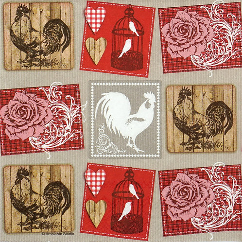 Athelhampton gift shop dorset ambiente paper napkins roses and roosters