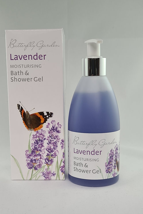 Athelhampton gift shop white rose aromatics butterfly garden lavender moisturising bath and shower gel