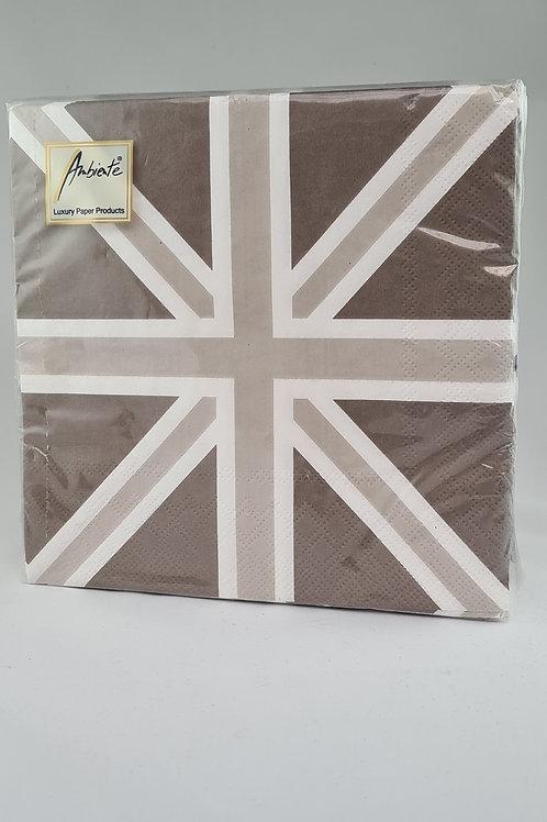 Athelhampton gift shop dorset ambiente paper napkins Union Jack sand
