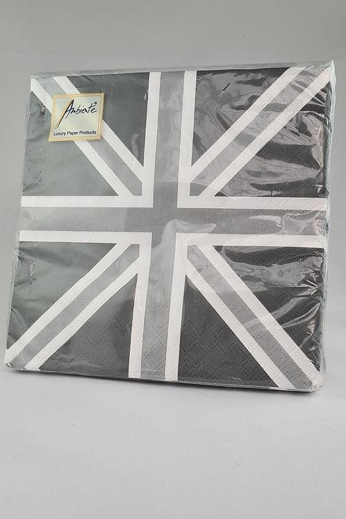 Athelhampton gift shop dorset ambiente paper napkins Union Jack grey