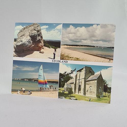 Athelhampton gift shop dorset postcard vintage Studland 1980-1990