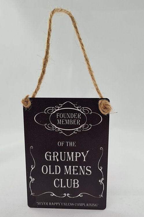 Athelhampton gift shop dorset door metal dangler small sign humour grumpy old mens club