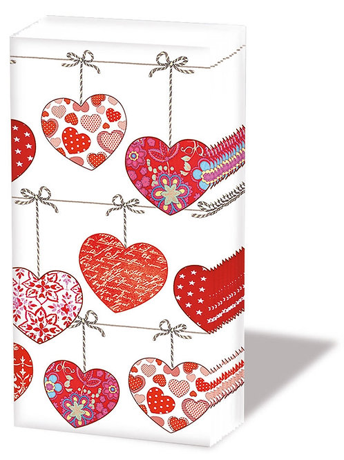 Athelhampton gift shop dorset ambiente paper pocket tissues hearts on a wire