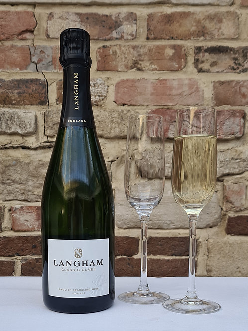 Athelhampton gift shop wine cellar glass bottle dorset Langham classic curvee 70cl