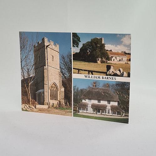 Athelhampton gift shop dorset postcard vintage William barnes 1991