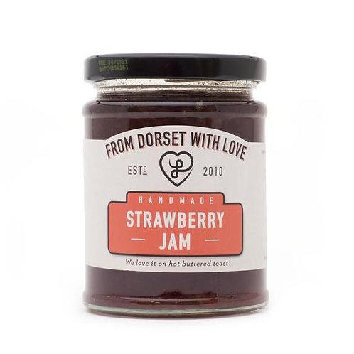Athelhampton gift shop from dorset with love jar strawberry jam