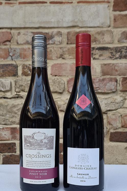 Athelhampton gift shop wine cellar glass bottle duo reds crossings Pinot Noir loire valley saumur rouge