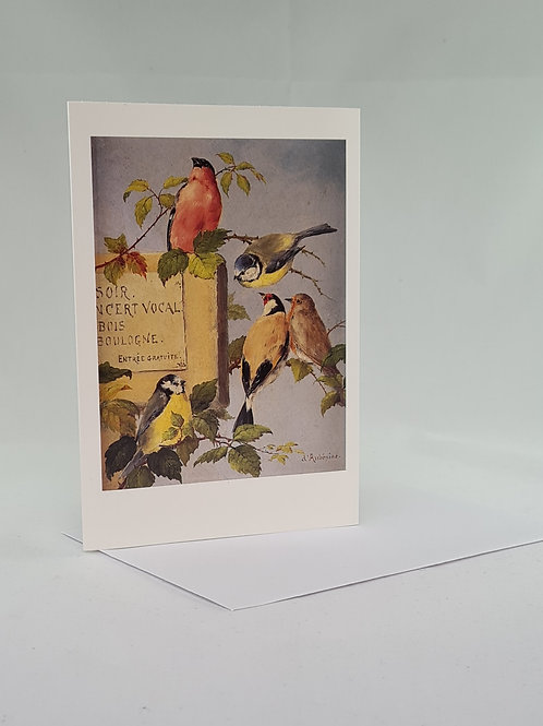 Athelhampton gift shop dorset bird song single notelet and envelope