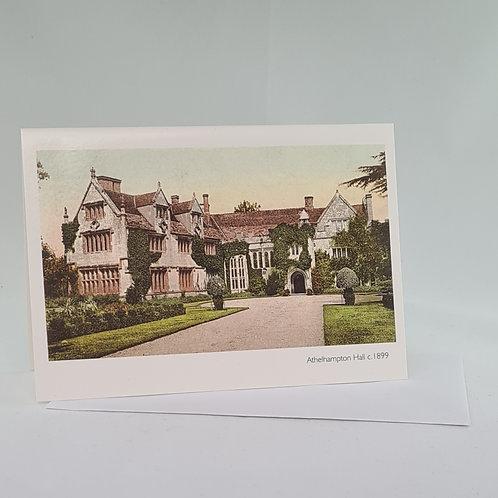 Athelhampton gift shop dorset single notelet and envelope