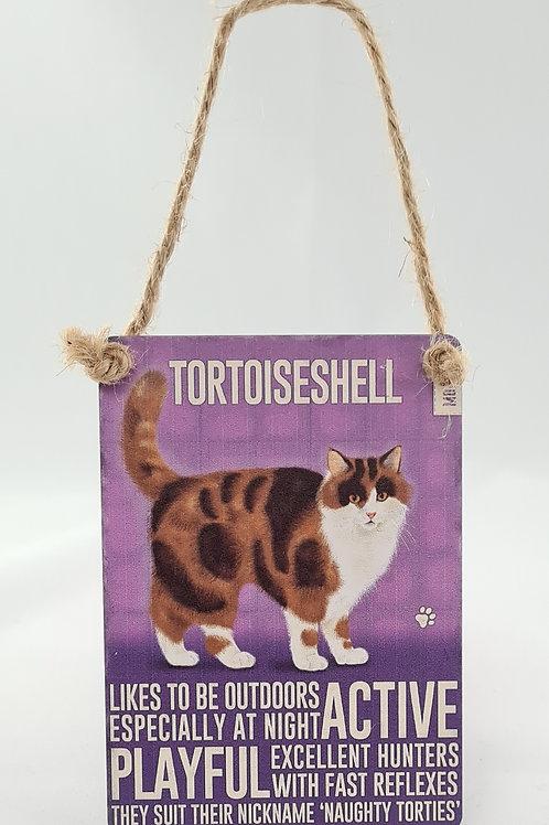 Athelhampton gift shop dorset door metal dangler small sign cat animals tortoiseshell